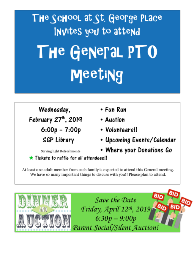 Communications » School at St George Place PTO